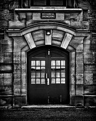 University Of Toronto Mechanical Engineering Building (thelearningcurvedotca) Tags: toronto ontario canada canadian universityoftoronto above abstract architecture background blackwhite blackandwhite briancarson brick building city classic concept design door doorway downtown entrance environment exterior facade famous flatiron foto geometric glass gothic historic history icon landmark light lines monochrome monument old outdoors pattern perspective photo photograph photography stone street structure thelearningcurvephotography texture tower uoft urban wall window wwwthelearningcurveca bwartaward bej blackwhitephotos blackandwhiteonly blogtophoto bwemotions cans2s discoveryphotos flickr10 iamcanadian linescurves torontoist true2bw yourphototips