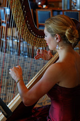 Lovely harpist makes beautiful music (dcstep) Tags: qm2 queenmary2 allrightsreserved transatlanticcruise ef24105mmf4lis canon5dmkiii september2014 copyright2014davidcstephens dxoopticspro95 z5a9069dxosrgb