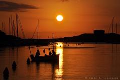 Menorca, 15 agost 2014, 20:32 (Perikolo) Tags: sunset sea sun sol atardecer mar barca puesta torreta menorca cala posta ciutadella capvespre santandria sacaleta