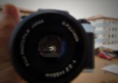 Reflex SLR (Arivan Miculis Reigota) Tags: old macro classic film japan espelho 35mm lens mirror reflex filme lente fujica fujinon dsl throughthelookingglass atravs classica flickrfriday fujicaax1