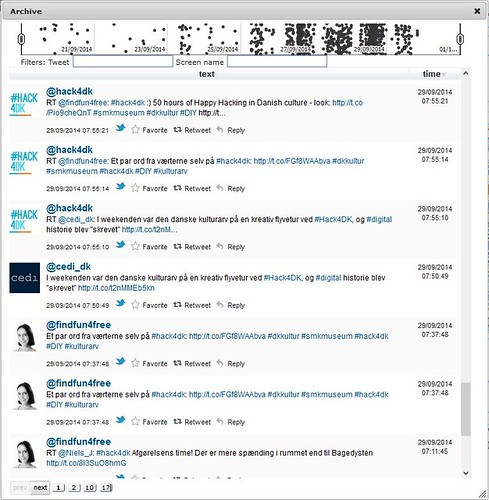 #hack4dk Twitter timeline