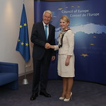 Yulia Tymoshenko and Thorbjorn Jagland