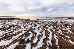 Melting Snow, Mud Bay, Surrey BC (PhotoDG) Tags: mudbay park surrey metrovancouver landscape ise snow beach wideangle texture formation melting