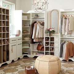 Sarah Storage Collection (Heath & the B.L.T. boys) Tags: storage organize closet rug dresser shoes chandelier mirror stool pouffe