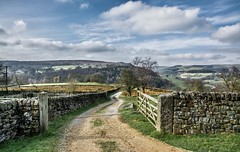 Open Gate.. (johngregory250666) Tags: uk derbyshire rural nature british countryside camera lens green yellow orange stone nikon nikkor hiking walking lines clouds sky blue moss lichen out brook glow grass imagesofengland amazing sunlight water light sun outdoor grassland field landscape hill trees plant serene moors great national park mountain moor moorland dale new d5200 rock formation rays edge heather flower tor world pass sunrise outside cloud temperature sunset view strange sheep dusk gate open lane farm track