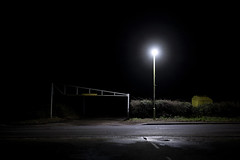Isolation (Dan Parratt) Tags: night nighttime nightphotography nightphoto nightfoto empty mundane newtopgraphics newtopography light artificiallight puddle rain wet road highway carpark