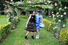 Margot and I (House Of Secrets Incorporated) Tags: belgium belgië lolita margot hilde egl ghent gent jfashion sweetlolita angelicpretty mistysky lolitameet lolitaday steamgoth internationallolitaday steamgothlolita casualsteamgoth