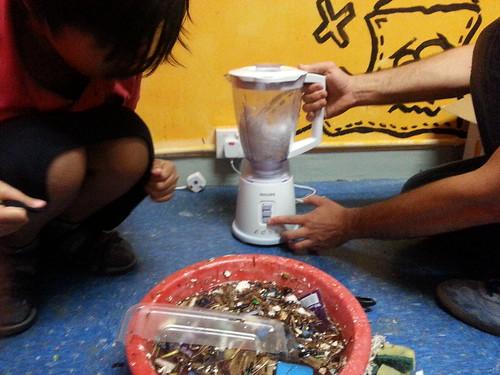 Hacking an ocean plastic sensor. Hong Kong Harbour
