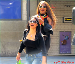 `1125 (roll the dice) Tags: street uk girls portrait people black hot sexy london art classic wet sunglasses weather fashion shopping underground photography funny couple pretty traffic boobs candid tube strangers sunny knightsbridge collection laughter wisdom mad bounce brompton sw1 londonist kensingtonchelsea