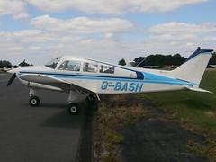 G-BASN Beech Sundowner 23 (Aircaft @ Gloucestershire Airport By James) Tags: james airport gloucestershire 23 beech lloyds sundowner egbj gbasn