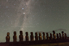 Under the Star (baddoguy) Tags: nightphotography star images getty moai easterisland fifteen rapanui ahutongariki
