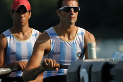 FISA World Rowing Cup II - Aighebelette 2014 : Ariel Suarez and Cristian Rosso from Argentina competes in the Men's Par (Alejandro Sala.apspressimage.com) Tags: china france sport competition rowing fisa outdoorsport rowingcup apspressimage coupedumondedaiviron aiguebelettelake worldcupii