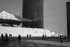 La Defense District #1 - Paris (eross_flickr) Tags: leica city light urban blackandwhite bw white black paris angle 28mm wide rangefinder wideangle m8 voigtlnder ultron leicam8