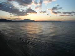 Good morning sunshine (jecadim) Tags: morning blue sea summer sky beach water sunshine yoga clouds sunrise dawn good greece meditation neavrasna