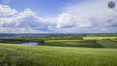 Hampshire, England (-ASD-) Tags: blue england sky panorama lake green grass clouds landscape britain wide hampshire vista fields winchester