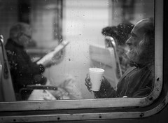 (Nicolas Alejandro Street Photography) Tags: travel window station train rail cofee