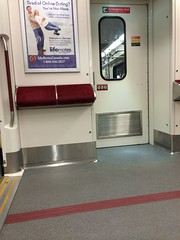 I've always wondered what these padded things are for. (Sweet One) Tags: toronto ontario canada subway ttc