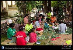 Candle Festival parade at Ubon Thailand - Made the big Candles trip_104