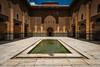 Ben Youssef Madrasa (Bernardo Ricci Armani PhotographingAround.Me) Tags: architecture design nikon morocco marrakech souq d800 suk madrasa coranicschool afszoomnikkor1424mmf28ged