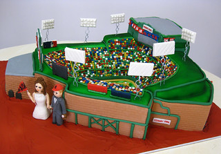 Fenway Park Cake med