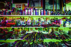 RBG Tool Shed (Notley) Tags: blue light red lightpainting green night evening midwest interior shed july tools missouri greenlight redlight nocturne bluelight toolshed columbiamissouri 2014 boonecounty 10thavenue notley ruralphotography boonecountymissouri ruralusa notleyhawkins missouriphotography httpwwwnotleyhawkinscom notleyhawkinsphotography rgblightpainting