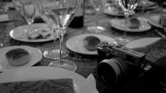 The tools of the trade (Digital Adrian) Tags: camera bw white black monochrome pen table four lumix photography evening wine g wide plate diner mini olympus screen panasonic e micro dxo 17 fujifilm pancake 20 product cinematic 169 asph thirds optics x100 mft pm1 filmpack microft