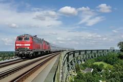P1690274 (Lumixfan68) Tags: ic eisenbahn db bahn intercity deutsche 218 züge loks baureihe hochdonn marschbahn dieselloks eisenbahnbrücken hochbrücken