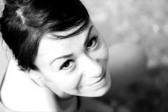 Ile Ni (fedekook) Tags: bw woman girl beautiful look eyes sguardo sorriso bianco nero cusin