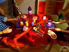 ~245~ (Merli-chan) Tags: light reflection kitchen look pen computer photography cuisine hand dress robe lumire main reflet camel curly pullip curl rosalind regard ordinateur princesse boucles chameau crayonprincess