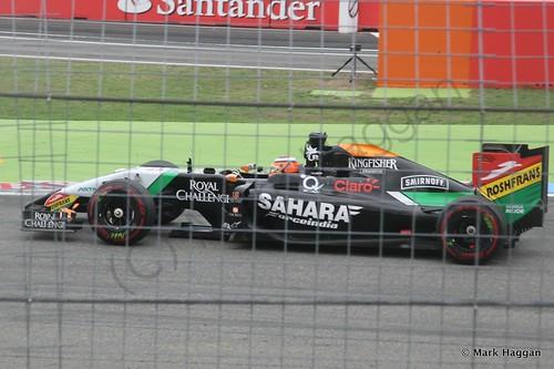 Nico Hulkenberg in the 2014 German Grand Prix