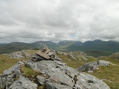 The summit cairn on Creag Dhubh Mhor (David McSporran) Tags: mountains forest scotland highlands scottish grahams graham hillwalking mhor lochcarron attadale creag dhubh