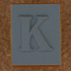 Rubber Stamp Letter K (Leo Reynolds) Tags: k letter kkk oneletter letterset grouponeletter xsquarex xleol30x xxx2014xxx