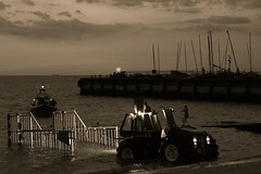 Harbour life (NovemberAlex) Tags: water sepia boats kent seaside whitstable