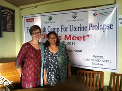 Indira and I at the press conference (The Advocacy Project) Tags: nepal camp people nature rural project justice women asia peace social womens medical health human rights medicine care fellowship fellows prolapse advocacy uterine