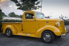 Yellow Truck (A  Train) Tags: chevrolet yellow truck lexington lexingtonkentucky pickup chevy restored carshow yellowtruck chevytruck