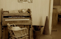 Teacher's Pump Organ & Megaphone - Bodie Ghost Town Collection (Life_After_Death - Shannon Day) Tags: life california county old city school west art history dusty abandoned hat sepia yard silver carson photography death gold mono town education mine day phone desert antique nevada ghost 1800s dream eerie sierra mining teacher collection pump organ shannon 49 rush dreams western historical after bodie dust schoolhouse artifact tone miner artifacts mega megaphone 1900s bodieghosttown lawless lifeafterdeath 49er shannonday lifeafterdeathstudios lifeafterdeathphotography shannondayphotography shannondaylifeafterdeath
