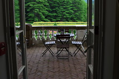 We'll Have Tea On The Terrace (MPnormaleye) Tags: trees brick classic stone architecture yard forest vintage table woods moody estate chairs terrace balcony atmosphere patio textures utata beauxarts