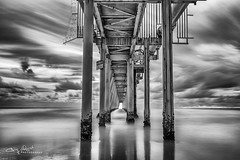 Eternity's a terrible thought. I mean, where's it all going to end? (Christolakis) Tags: longexposure bw seascape sunrise pier jetty australia nsw canon24105f4l fingalhead bwnd110 tweedshire canon5dmklll