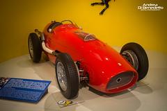 Ferrari at Indianapolis - Museo Ferrari @ Maranello (endriudb) Tags: world auto italy car museum del race championship italia indianapolis ferrari alberto da enzo 50s miles museo 500 formula1 ascari scuderia maranello corsa v12 mondo miglia cavallino campionato rampante worldcars