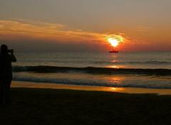 Sunset (Frans Schmit) Tags: sunset zonsondergang silhouettes noordzee northsea southbeach zuiderstrand fransschmit