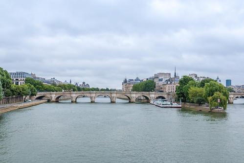 Vue sur le Square du Vert-Galant et le Pont Neuf