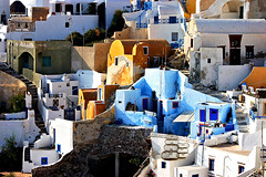 IMG_6717b (gregory.guivarch) Tags: city blue roof wallpaper vacation panorama white house holiday abstract blur streets building colors wall architecture island greek construction focus europe mediterranean cityscape village background aegean style sunny depthoffield santorini greece fairy dome ia civilization effect tranquil oia cyclades thira whitewash fira