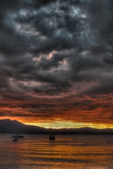 So From Before Only HDR (Mark B 365) Tags: sunset lake storm tahoe drama alpinelake hdr 2014