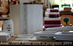 PREPARING ARTISTS'BOXES || DOOSJES IN DE GESSO GEZET (Anne-Miek Bibbe) Tags: art kunst workinprogress nederland wip boxes gesso augustus 2014 doosje bibber bibbe schilderwerk annemiekbibbe werkindemaak