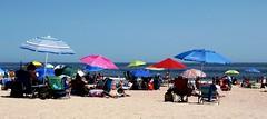 Beach Umbrellas (markchevy) Tags: ocean beach landscape photo newjersey interesting colorful pix graphic sandy asburypark nj picture scene atlantic vista boardwalk umbrellas jerseyshore pictorial oceangrove colorsinourworld markchevy