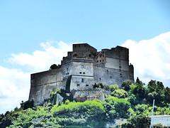 Castello di Baia (Dilexa> (studying)) Tags: blue sea sky sun lumix boat sailing panasonic sunnyday lumixfz200