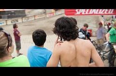 Whistler Crankworx details 3 - Canada summer trip 2014 Anamorph DSC_6359.jpg (PowderPhotography) Tags: shirtless summer canada 50mm bc f14 watching mountainbike august downhill biker nikkor crankworx scars finishline anamorphic 2014 grazes f14g 133x anamorphot slrmagic
