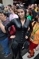 Cat Woman (Sp3ed Demon) Tags: atlanta woman man cat comics dc dragon cosplay bat hilton batman hyatt con mariott 2014