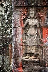 Banteay Kdei, Cambodia (Arkinien) Tags: sculpture building stone religious temple moss asia cambodia ruin siemreap hindu apsara basrelief banteaykdei kkobiketour