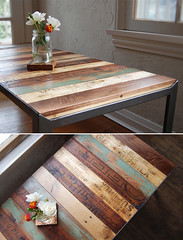 The Re|Surface Table (irecyclart) Tags: wood vintage table modular patchwork